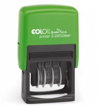 Colop Printer S 220  Green Line Датер 4 мм, (месяц цифр.)  ЭКО