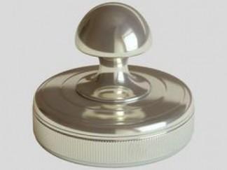 """Оснастка для печатей """"металлическая блестящая-3"""", диаметр 45мм"""