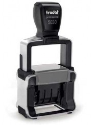 Trodat 5030 PROFESSIONAL металлический датер, 4мм  4908 PRINTY оснастка для штампа 26 х 9 мм