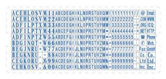 S15 касса латинского шрифта для печатей и штампов