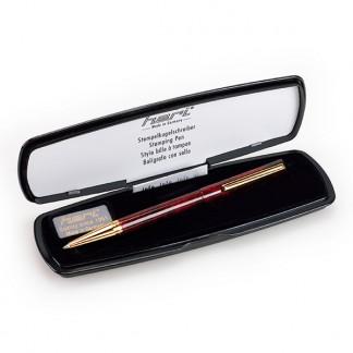 3089 Ручка DIAGONAL Красный камень