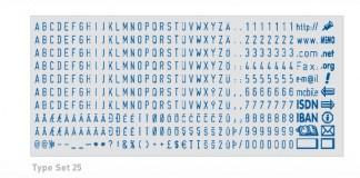 Colop TypeSet 25 касса букв и символов 2,5 мм АНГЛИЙСКАЯ
