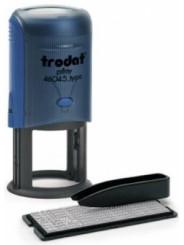 Trodat 46045/DB TYPO R2 самонаборная печать 45 мм,2 круга