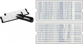 UNI-set Комплект шрифта для печатей и штампов (2 кассы и пинцет)