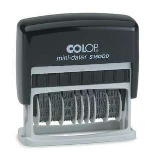 Colop S160/DD Мини-датер с двумя датами и полем для текста 3.5х349 мм