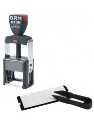 GRM 2100 2pads DIY  самонаборный штамп , 6 строк