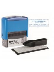 IDEAL 4913/DB TYPO Самонаборный штамп 58х22 мм, 5 строк, 1 касса