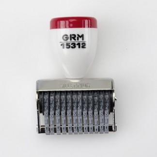 GRM 15312 Нумератор 12 разрядов, 3 мм